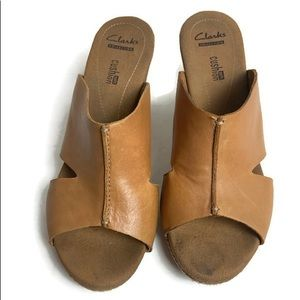 Clark's collection soft cork wedges